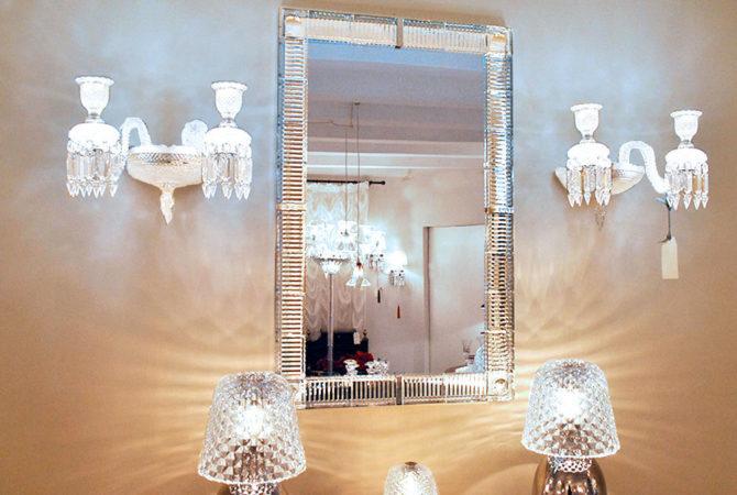 "Specchio: Baccarat ""Dis Moi"" Specchio Cristallo Francese"