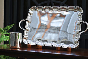 Victorian Silver Tray, London 1900