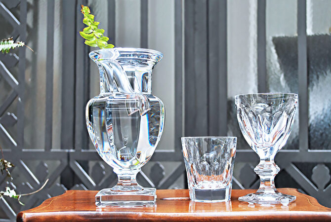 "Vaso: Baccarat ""Harcourt Darkside"" Cristallo Francese Philippe Starck (h 22 cm)"